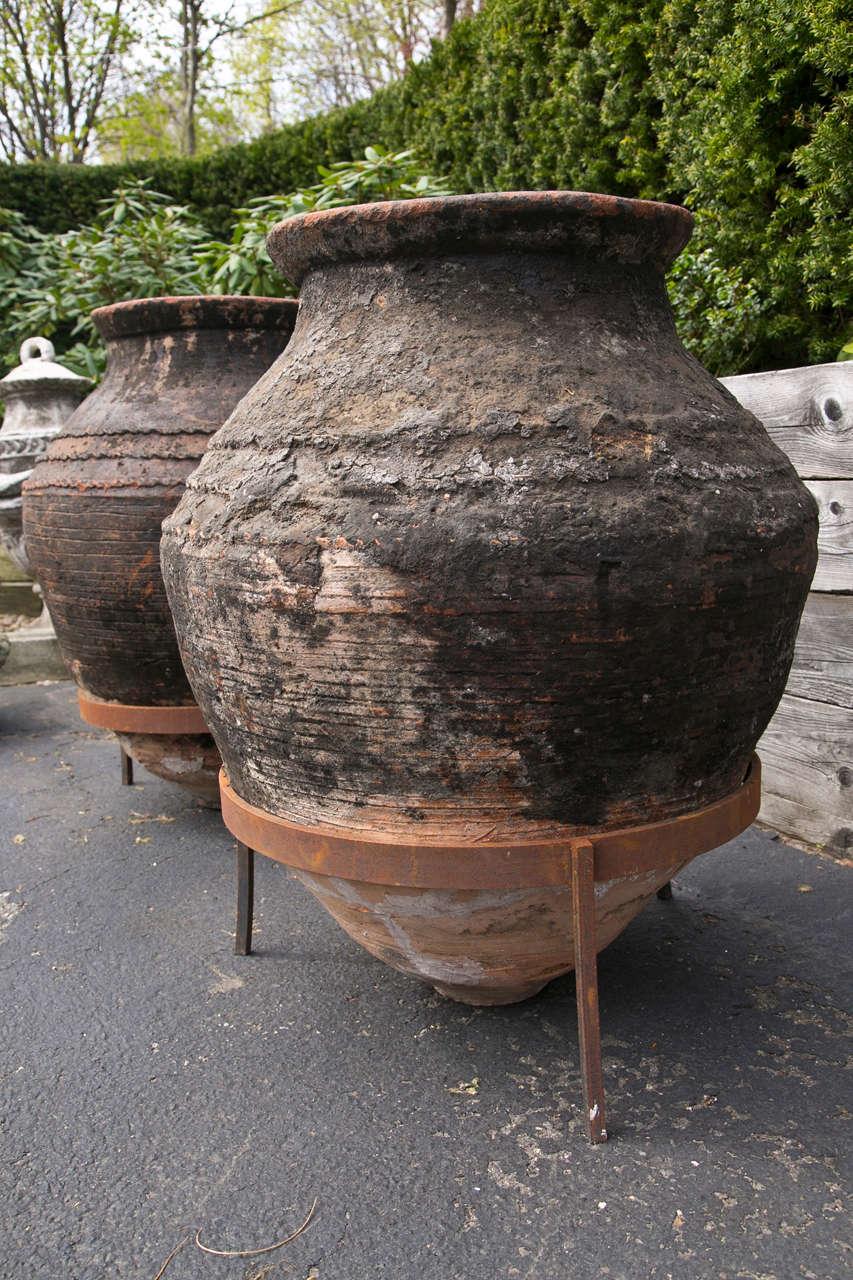 Pair Of Large Greek Storage Jars For Sale At 1stdibs