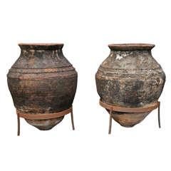 Pair of Large Greek Storage Jars
