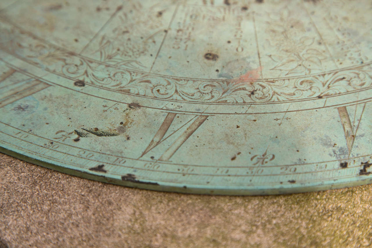 Barker & Sons Bronze and Limestone Sundial In Good Condition For Sale In Mt Kisco, NY