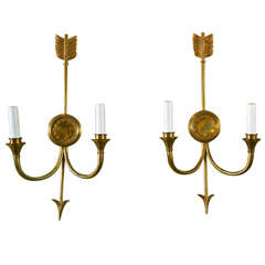 Four Pairs of Bronze Wall Sconces