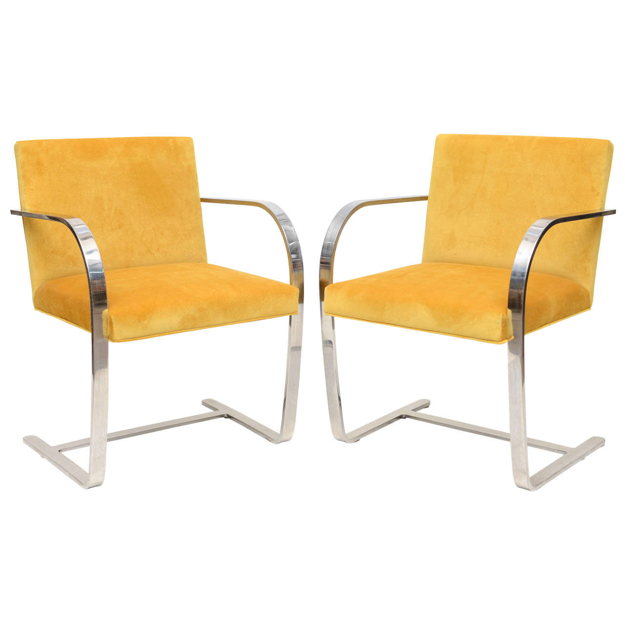 pair of ludwig mies van der rohe brno chairs for knoll at 1stdibs. Black Bedroom Furniture Sets. Home Design Ideas