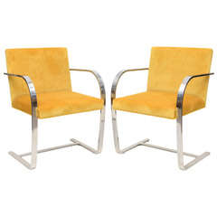 Pair of Ludwig Mies van der Rohe Bruno Chairs for Knoll