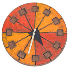 Italian Ceramic Clock by Howard Miller