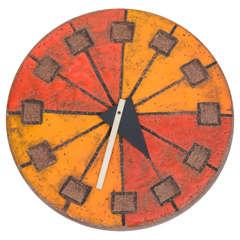 Italian Ceramic Clock by Howard Miller
