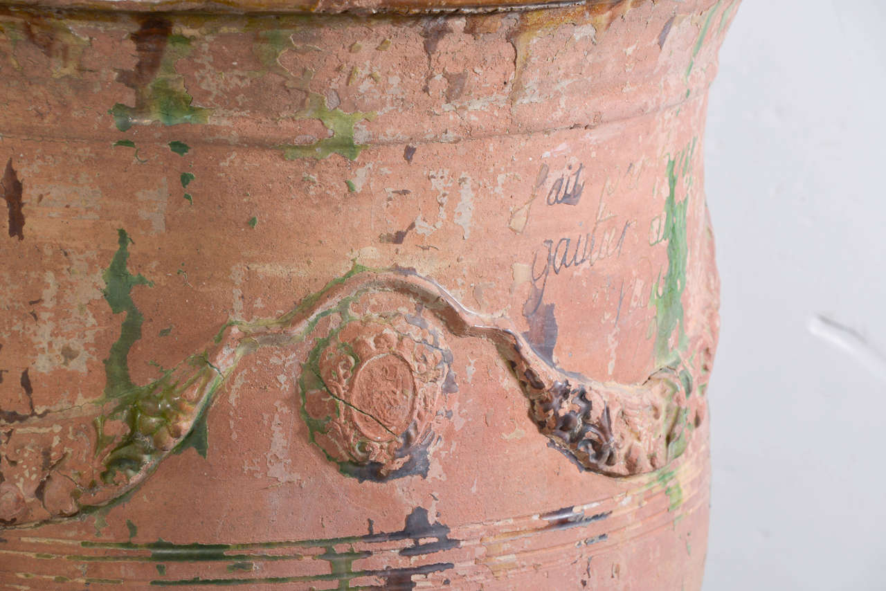 Glazed Pair of Large 18th Century Anduze Jars For Sale
