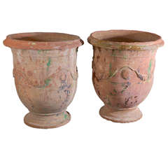Pair of 18th Century Anduze Jars
