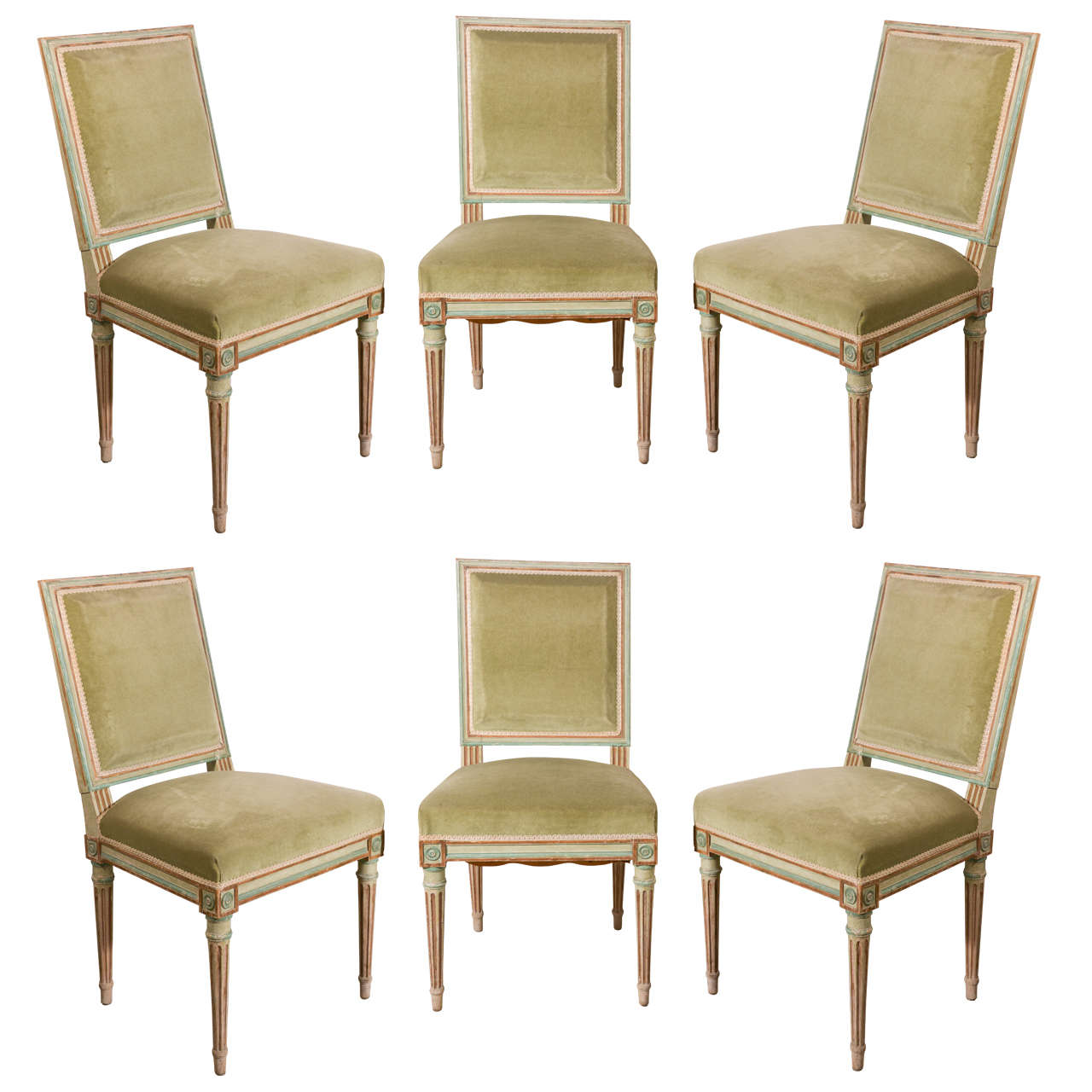 Set Of Six Louis XVI Dining Chairs At 1stdibs