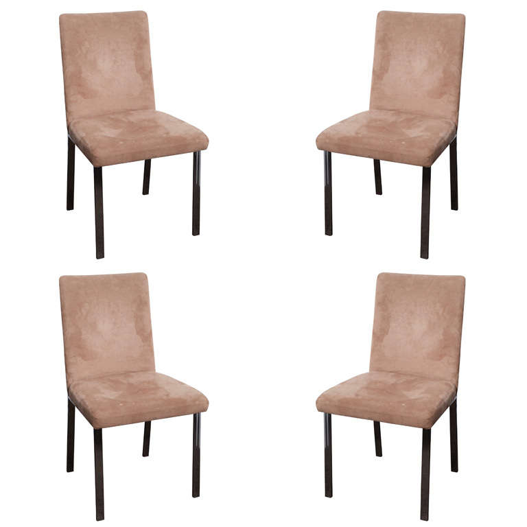milo baughman style set of 4 dining room chairs at 1stdibs