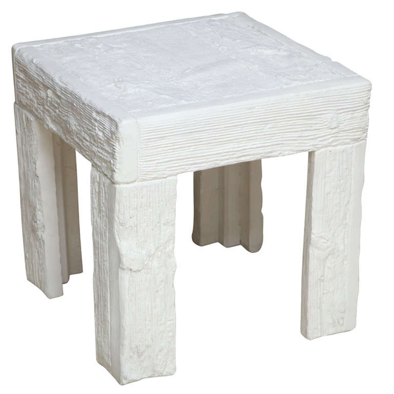 John Dickinson Painted Plaster Faux Bois Table For Sale