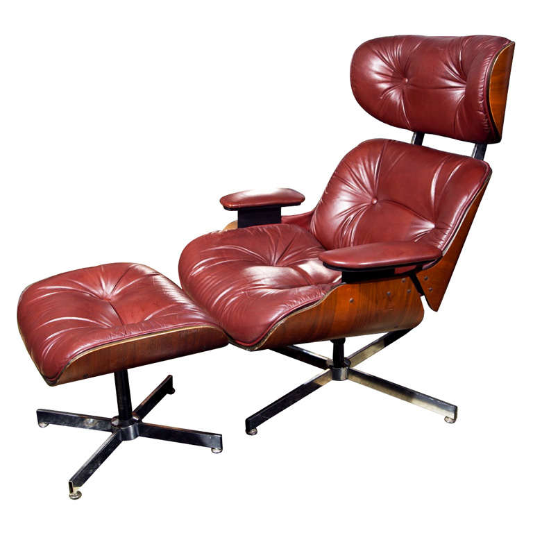1960 39 s eames chair and footstool by selig at 1stdibs - Selig eames chair ...
