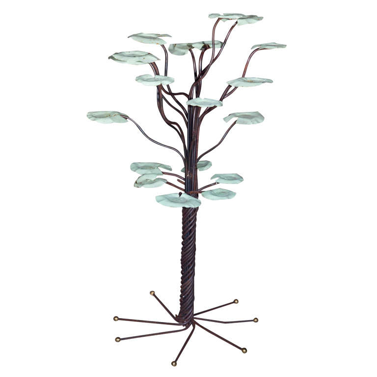 Wrought iron lily pad garden sculpture at 1stdibs - Wrought iron garden sculptures ...