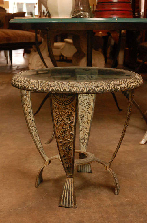 American Seville Metal Art Studio Table, Circa 1920s For Sale