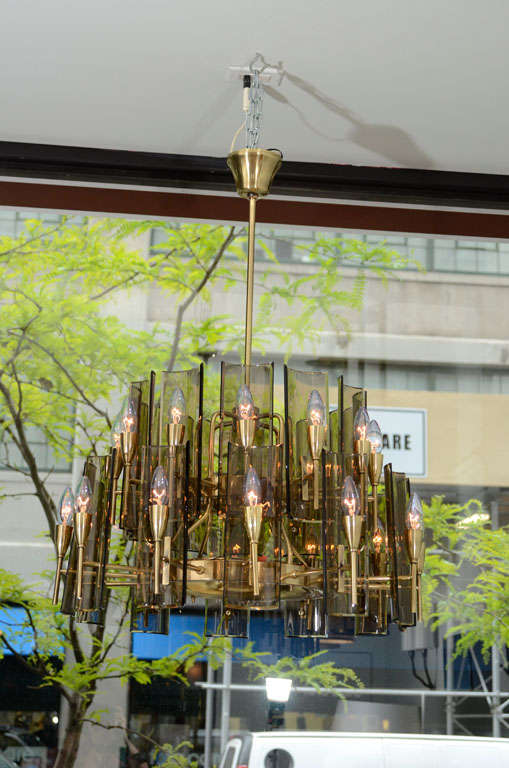 Stunning Chandelier in the Style of Fontana Arte 2