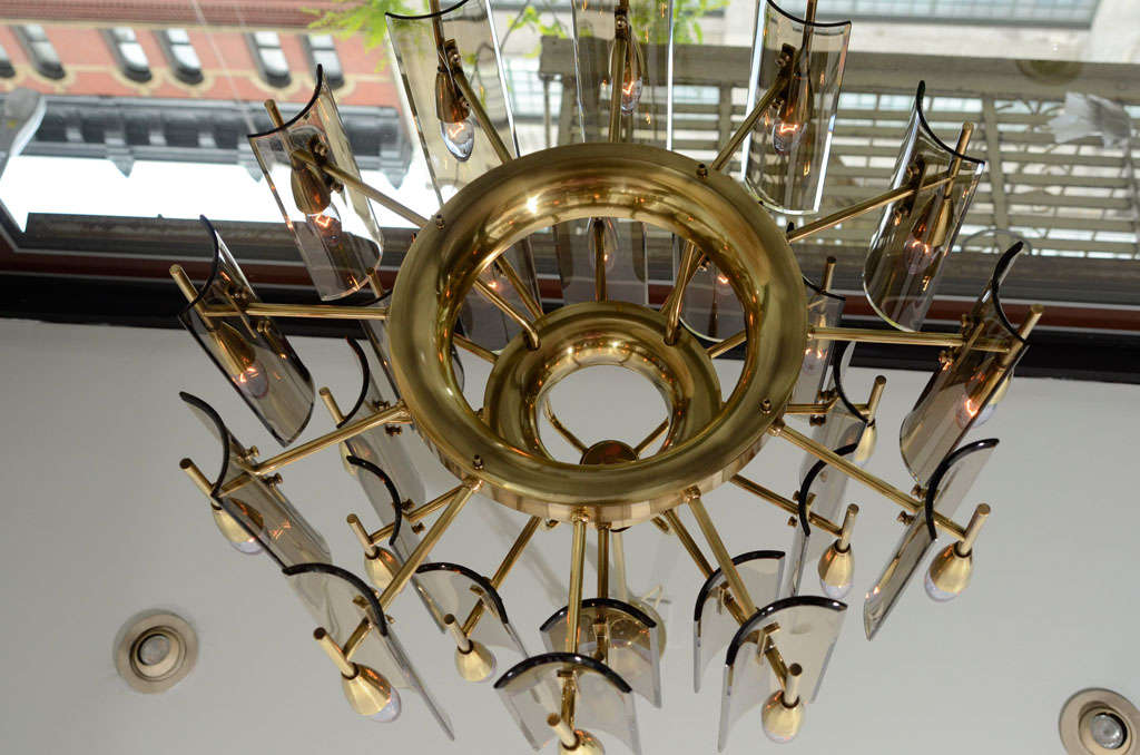 Stunning Chandelier in the Style of Fontana Arte 5