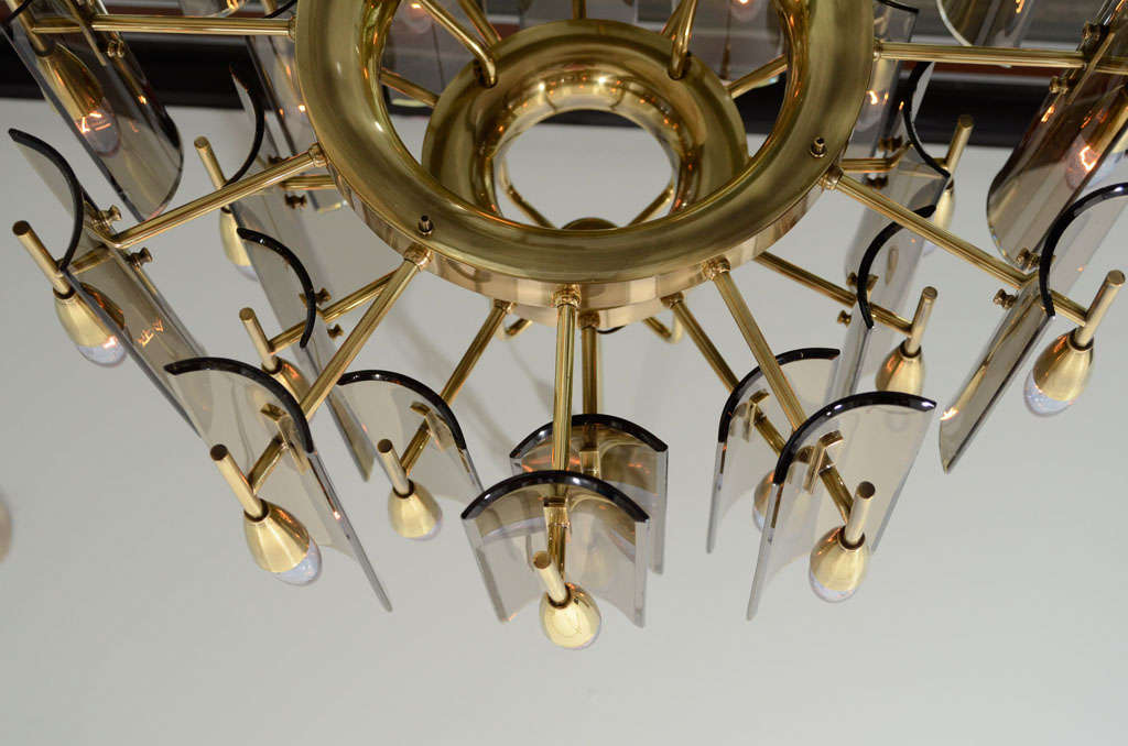 Stunning Chandelier in the Style of Fontana Arte 6