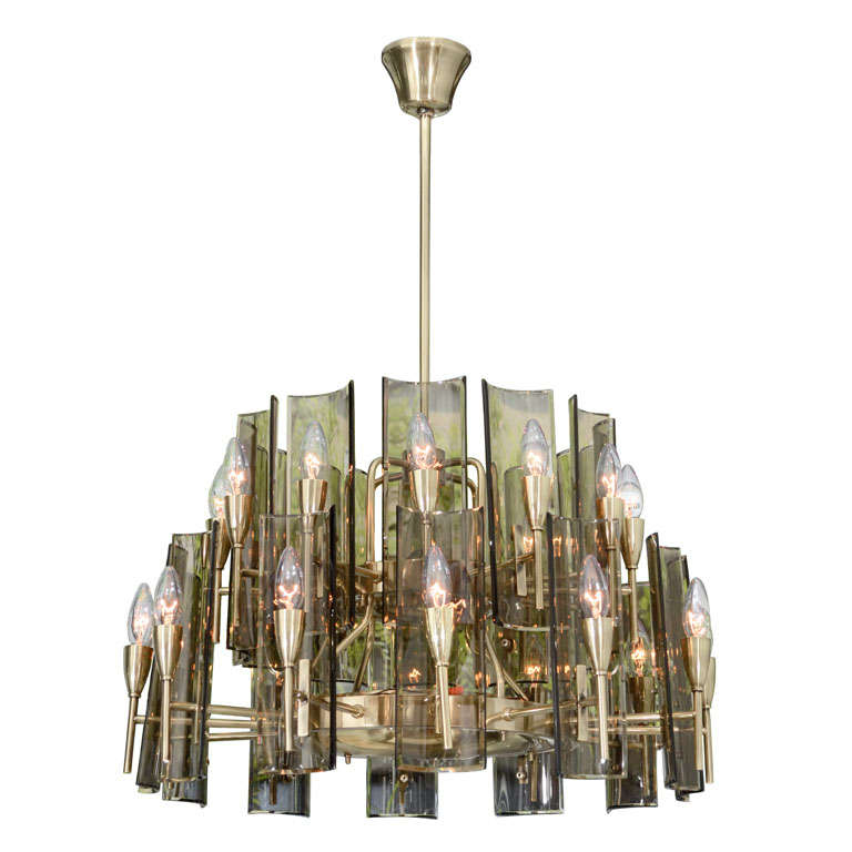 stunning chandelier in the style of fontana arte for sale. Black Bedroom Furniture Sets. Home Design Ideas