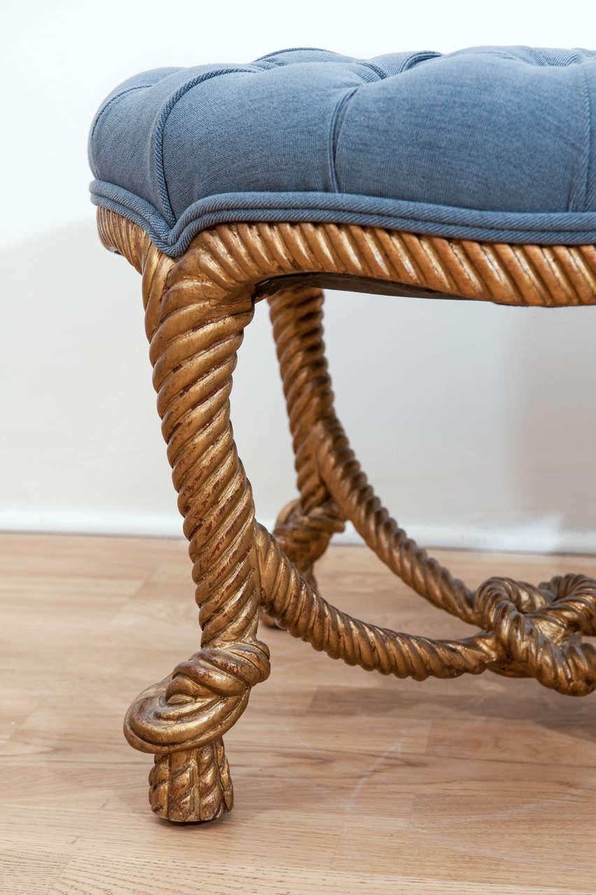 Classic Gilt Rope Stool Ottoman At 1stdibs