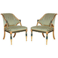 Pair of Swedish Neoclassical Armchairs