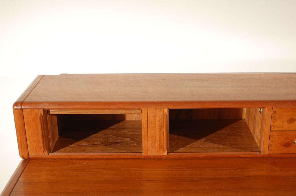 Custom Solid Teak Desk By D Scan At 1stdibs
