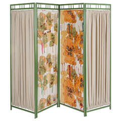 Early 20th Century Colourful Wooden Screen Room Divider