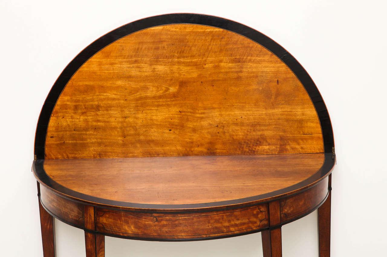 George III Satinwood and Ebony Inlaid Folding Table 3