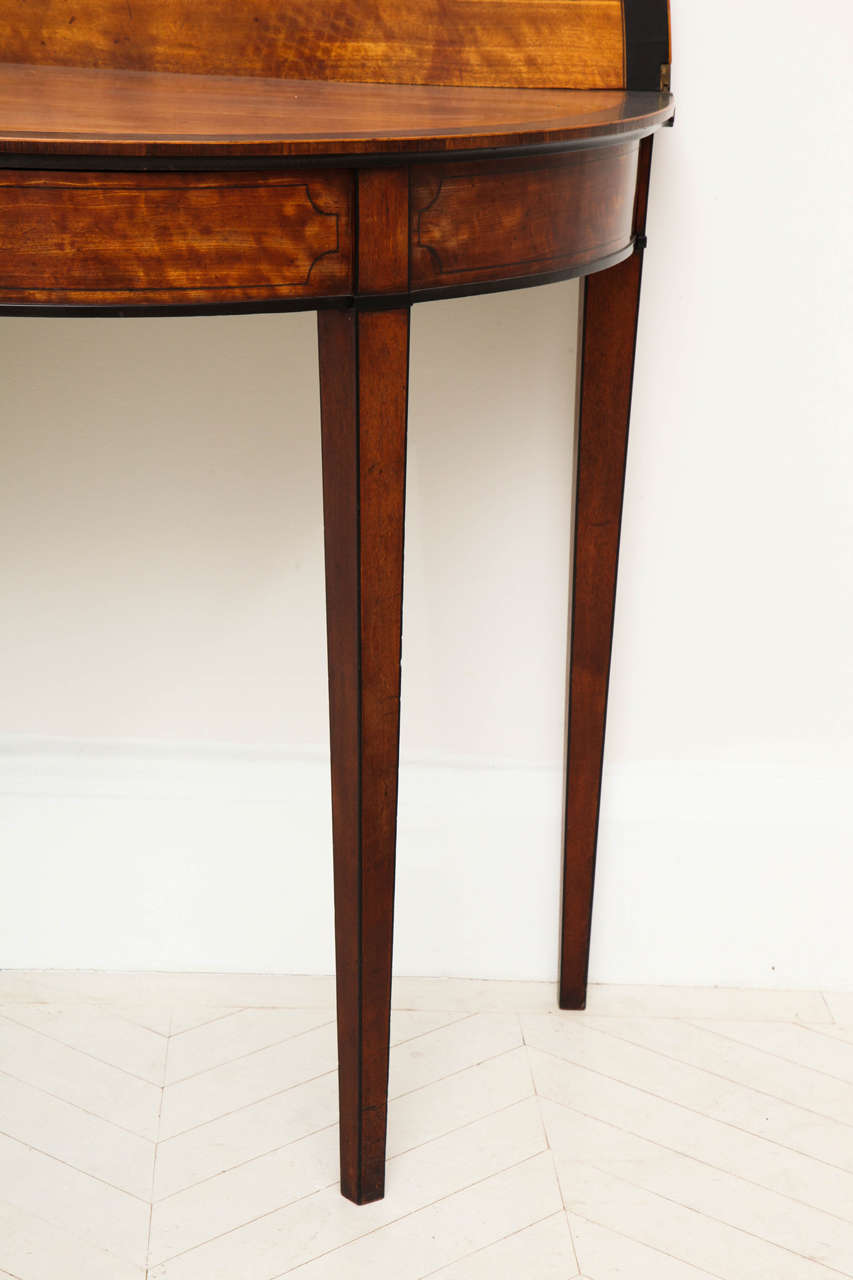 George III Satinwood and Ebony Inlaid Folding Table 5