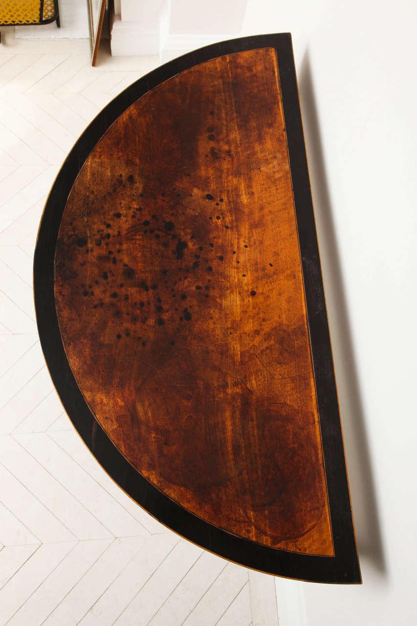 George III Satinwood and Ebony Inlaid Folding Table 6