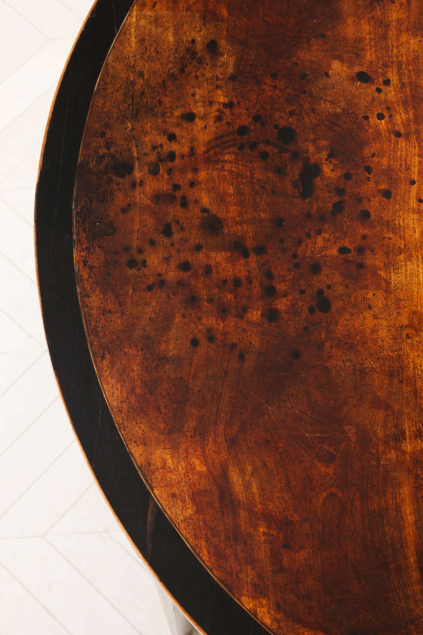 George III Satinwood and Ebony Inlaid Folding Table 7