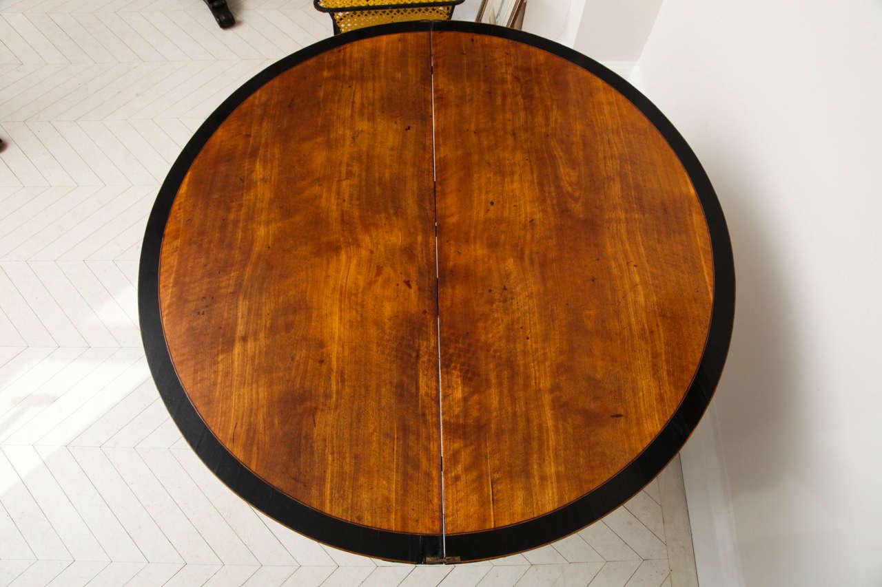 George III Satinwood and Ebony Inlaid Folding Table 9