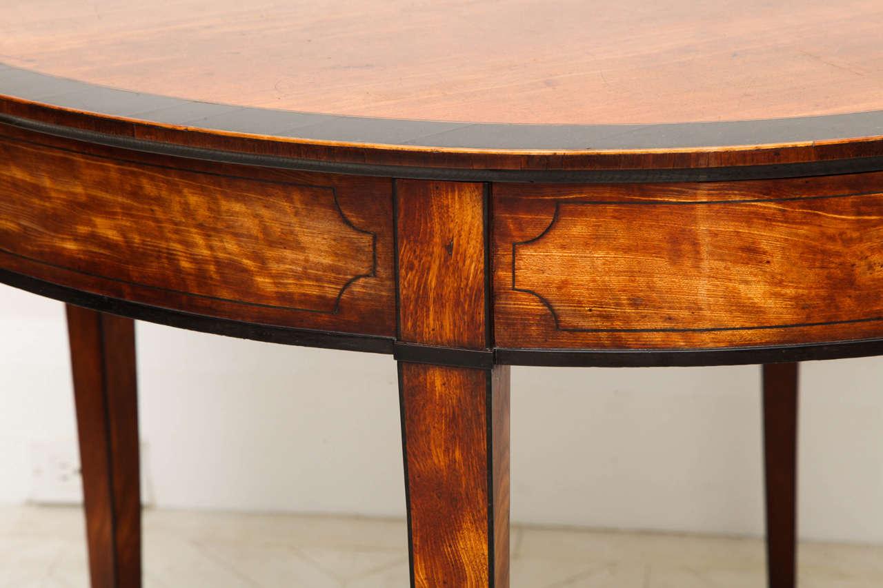George III Satinwood and Ebony Inlaid Folding Table 10