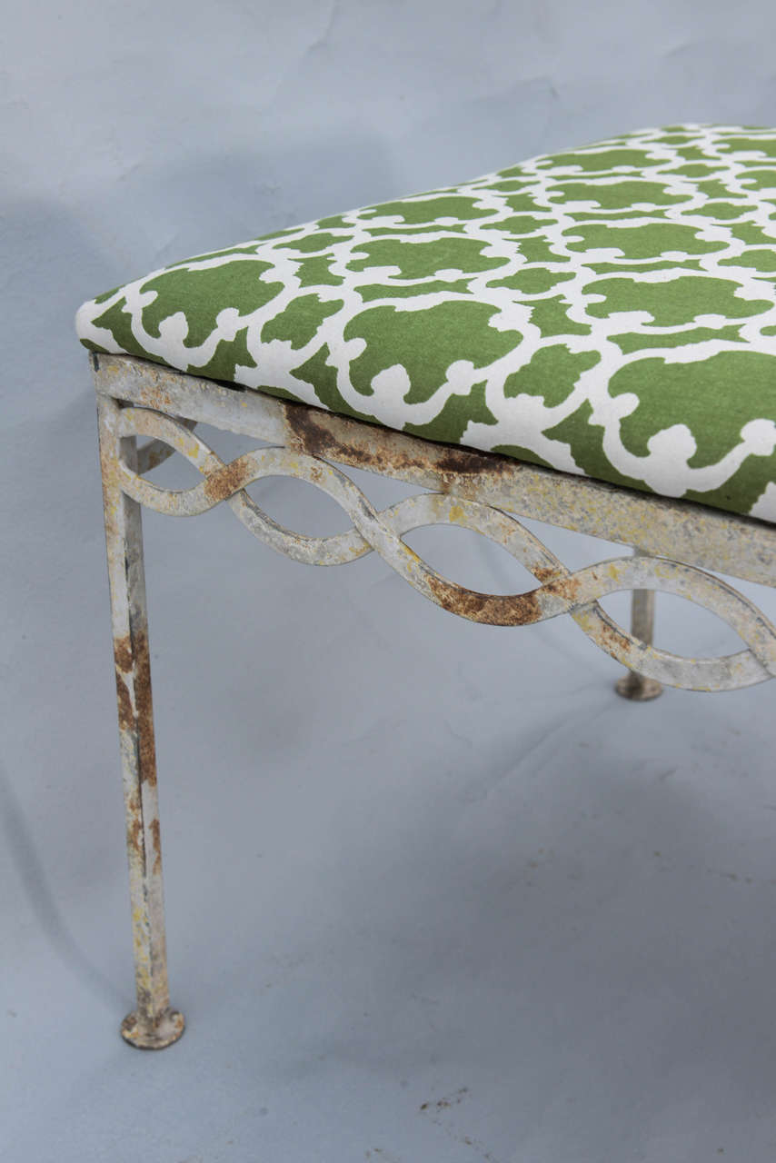 Mid-century Iron Bench For Sale 4