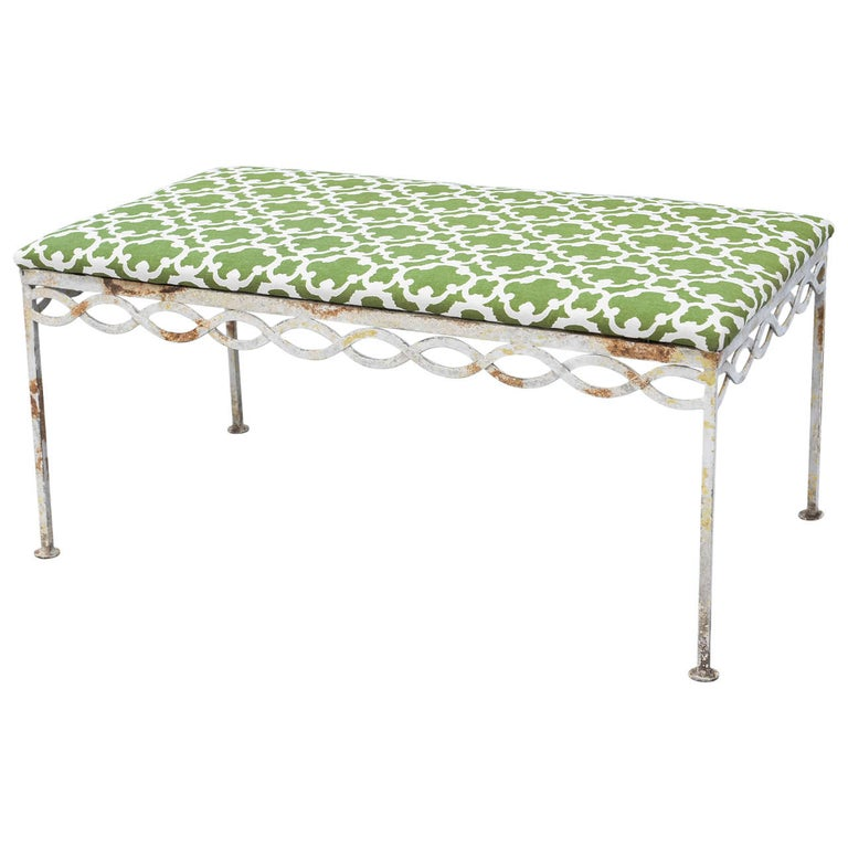Mid-century Iron Bench For Sale