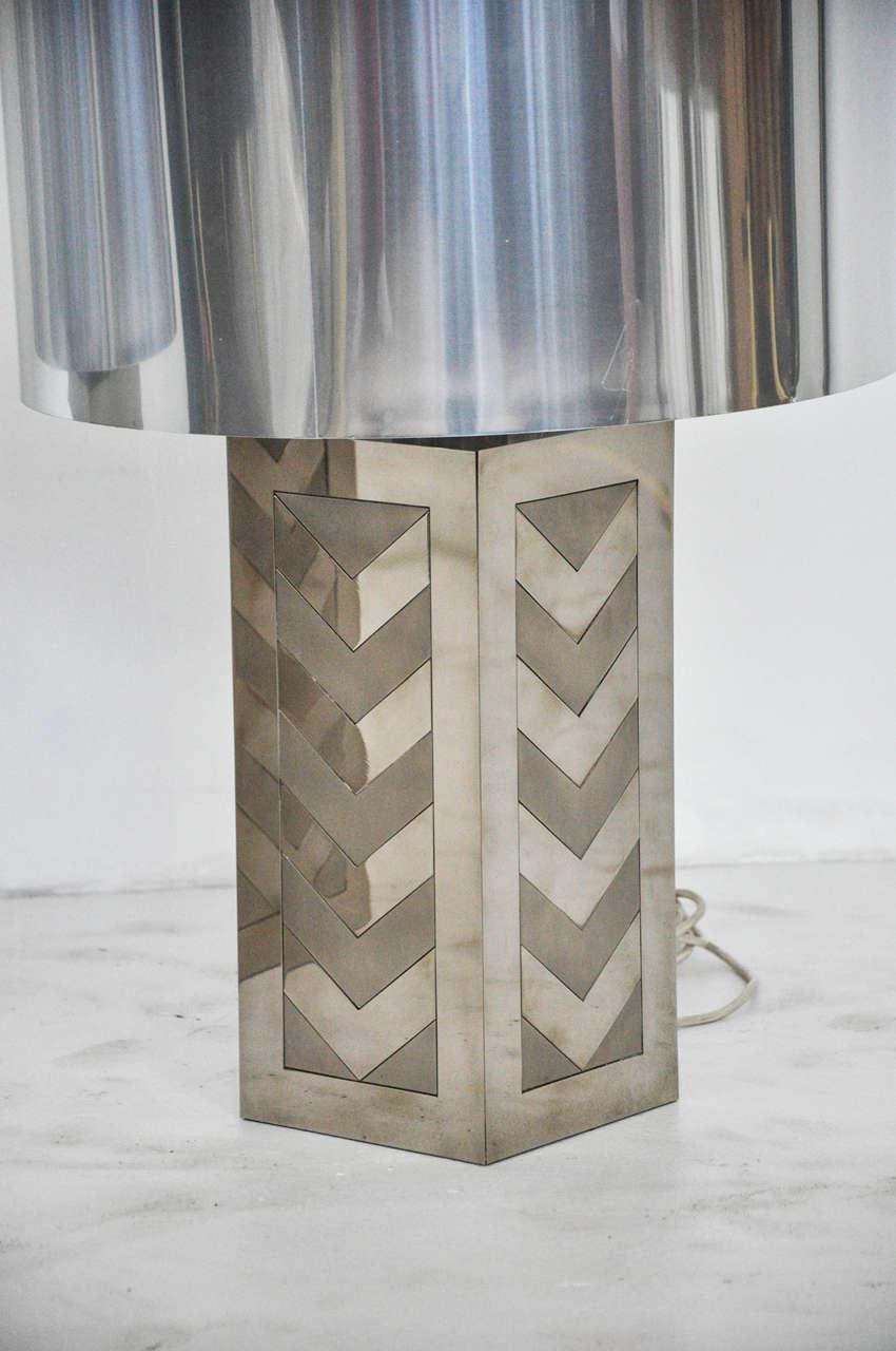 Italian 1970s Chevron Lamps For Sale 3