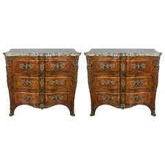 Pair of 19th Century Louis XV style Commodes