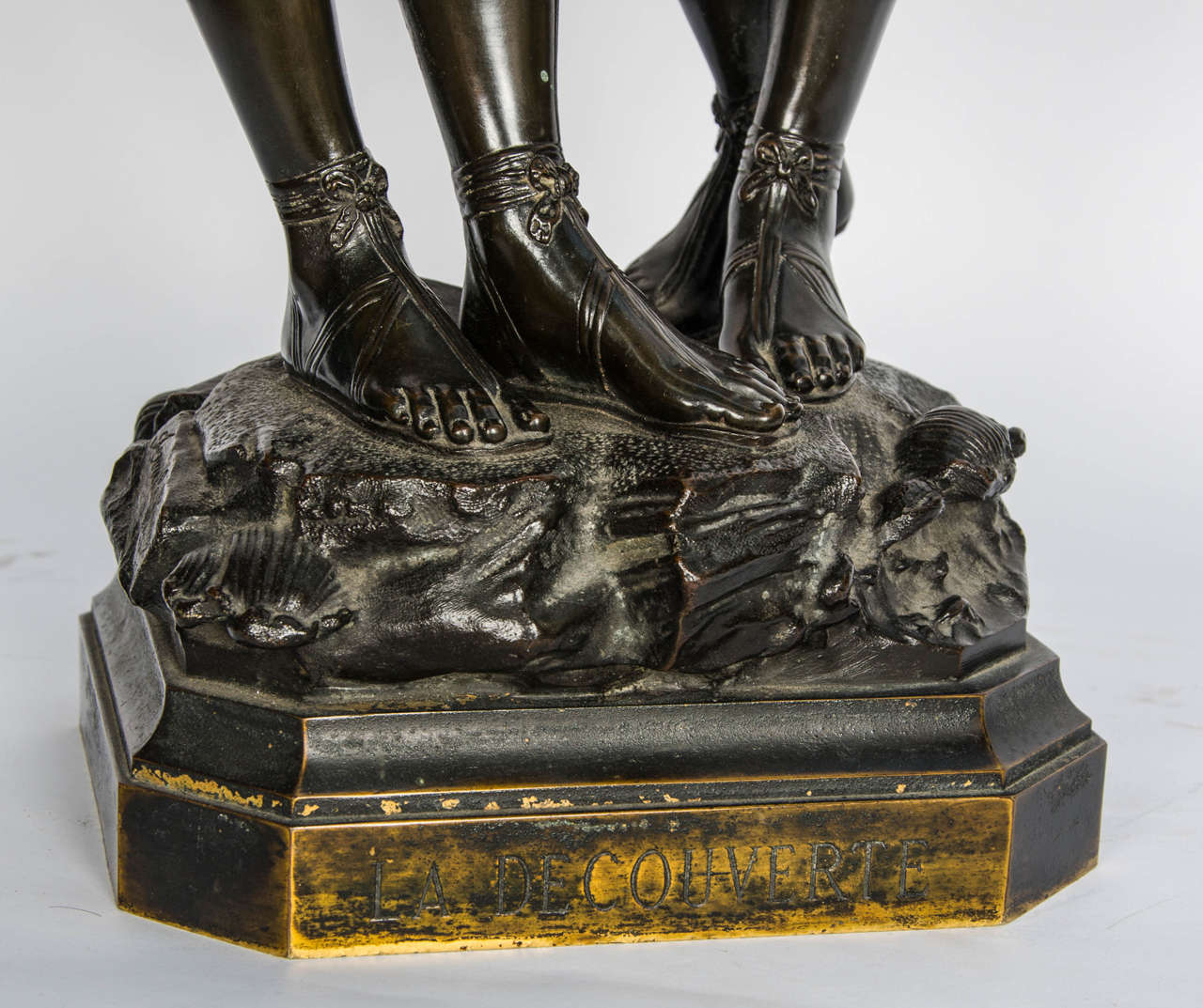 Italian Bronze Study of Two Girls For Sale