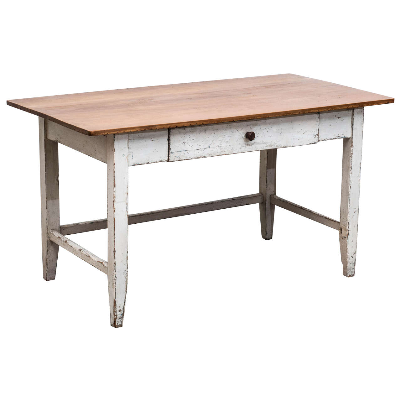 Pine And Beechwood Writing Table For