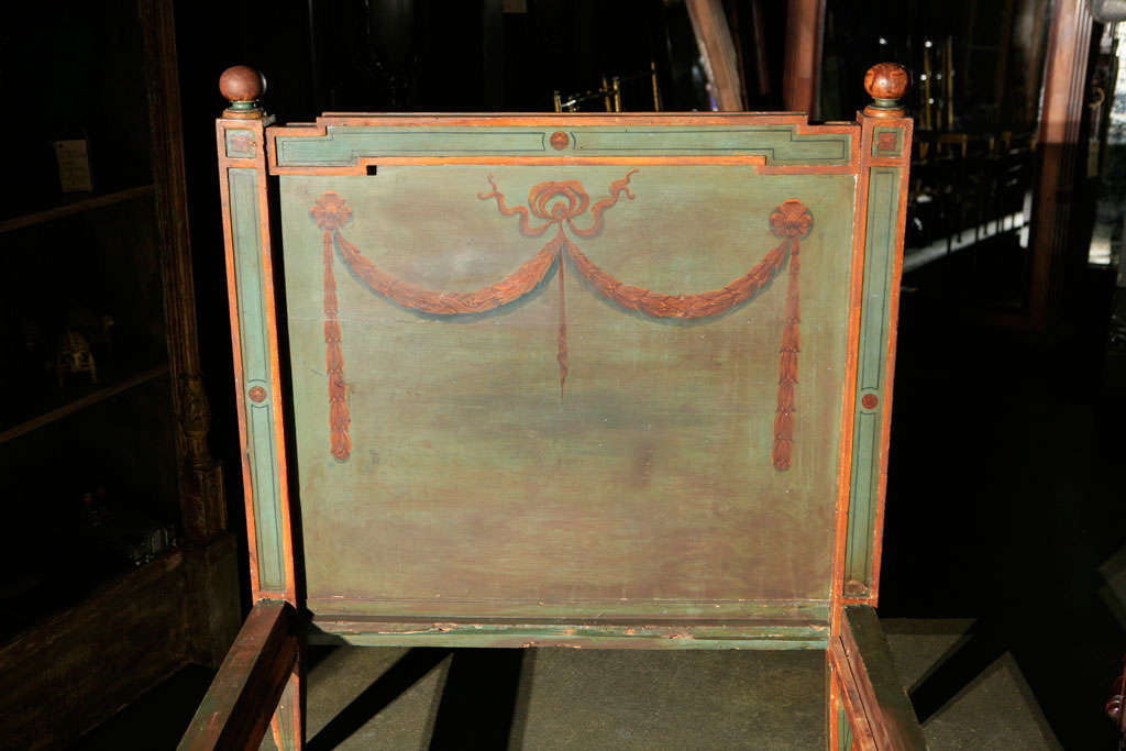 Italian Venetian Painted Day Bed For Sale