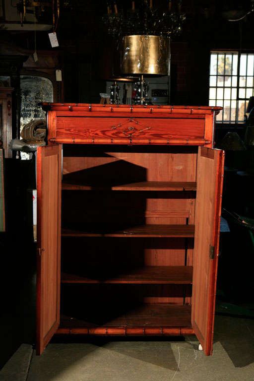French faux bamboo cabinet for sale at 1stdibs for Bamboo kitchen cabinets for sale