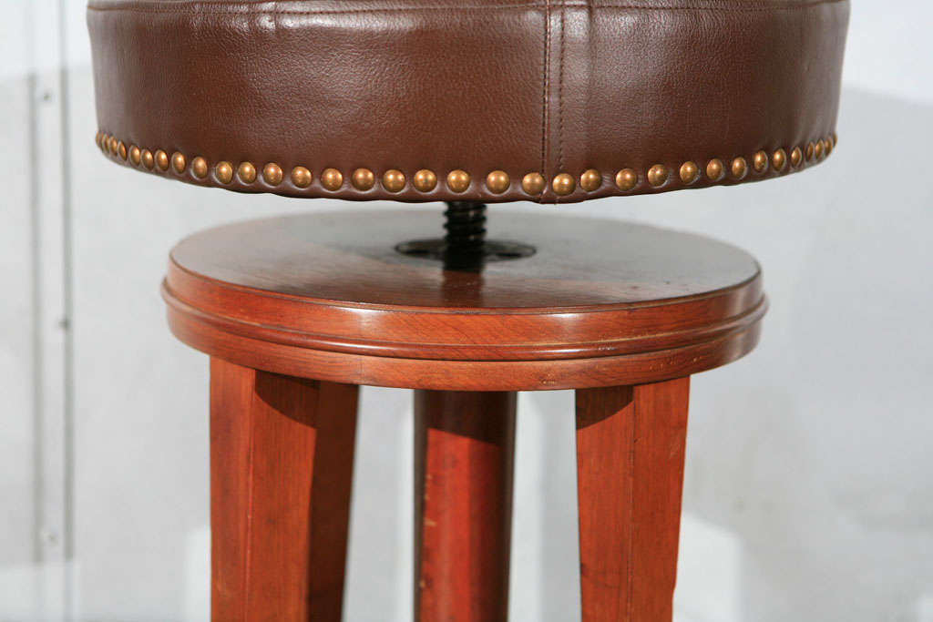 Deco Stool with Adjustable Seat 3