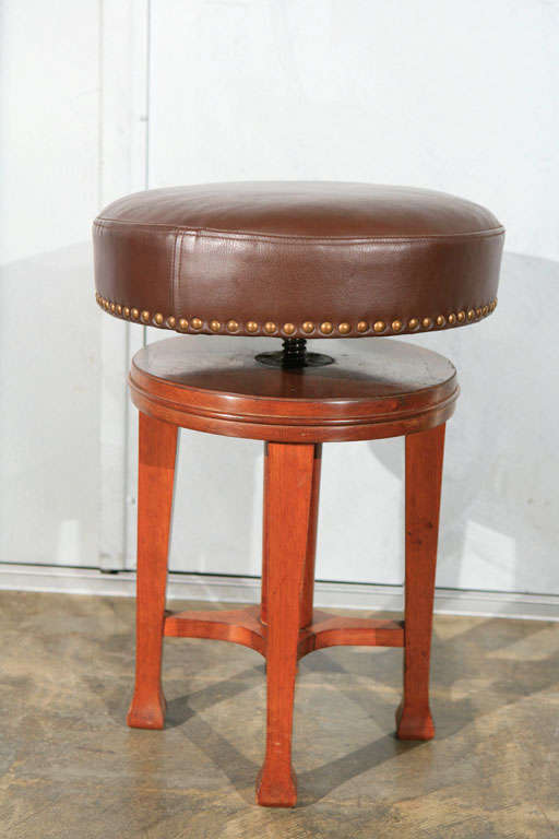 Deco Stool with Adjustable Seat 5