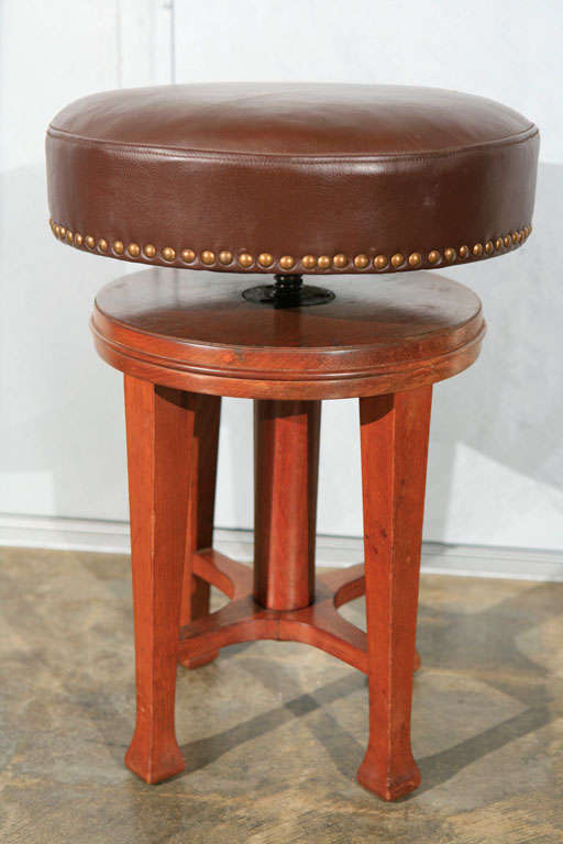Deco Stool with Adjustable Seat 6