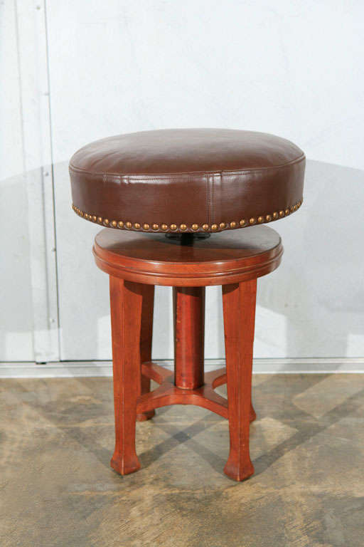 Deco Stool with Adjustable Seat 8