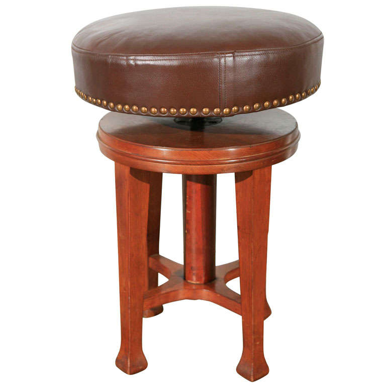 Deco Stool with Adjustable Seat 1