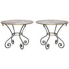 Pair of Metal Gueridon Tables