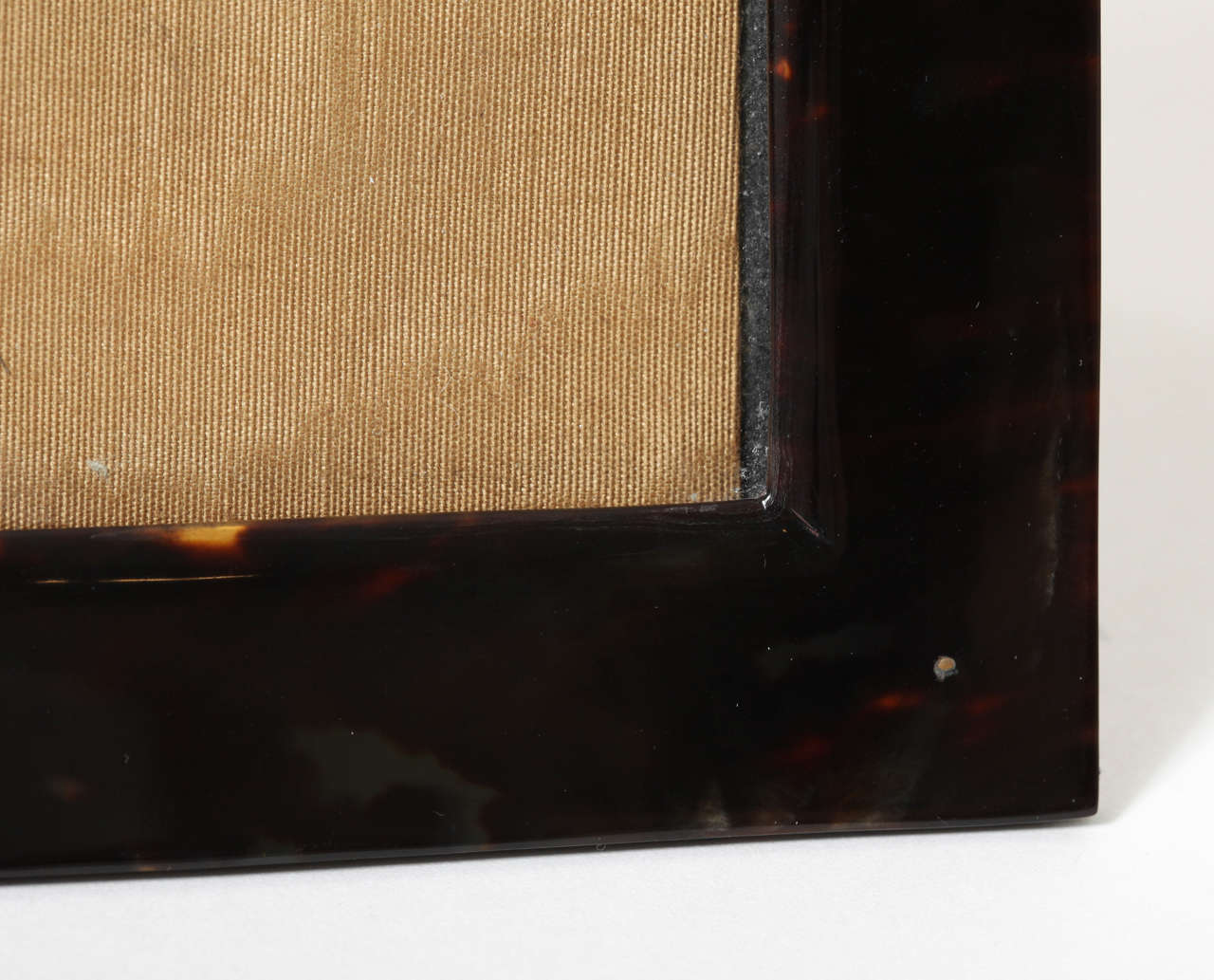 English Art Deco Faux Tortoiseshell Photograph Frame For Sale 2