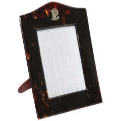 Asprey & Co. English Art Deco Faux Tortoiseshell Photograph Frame