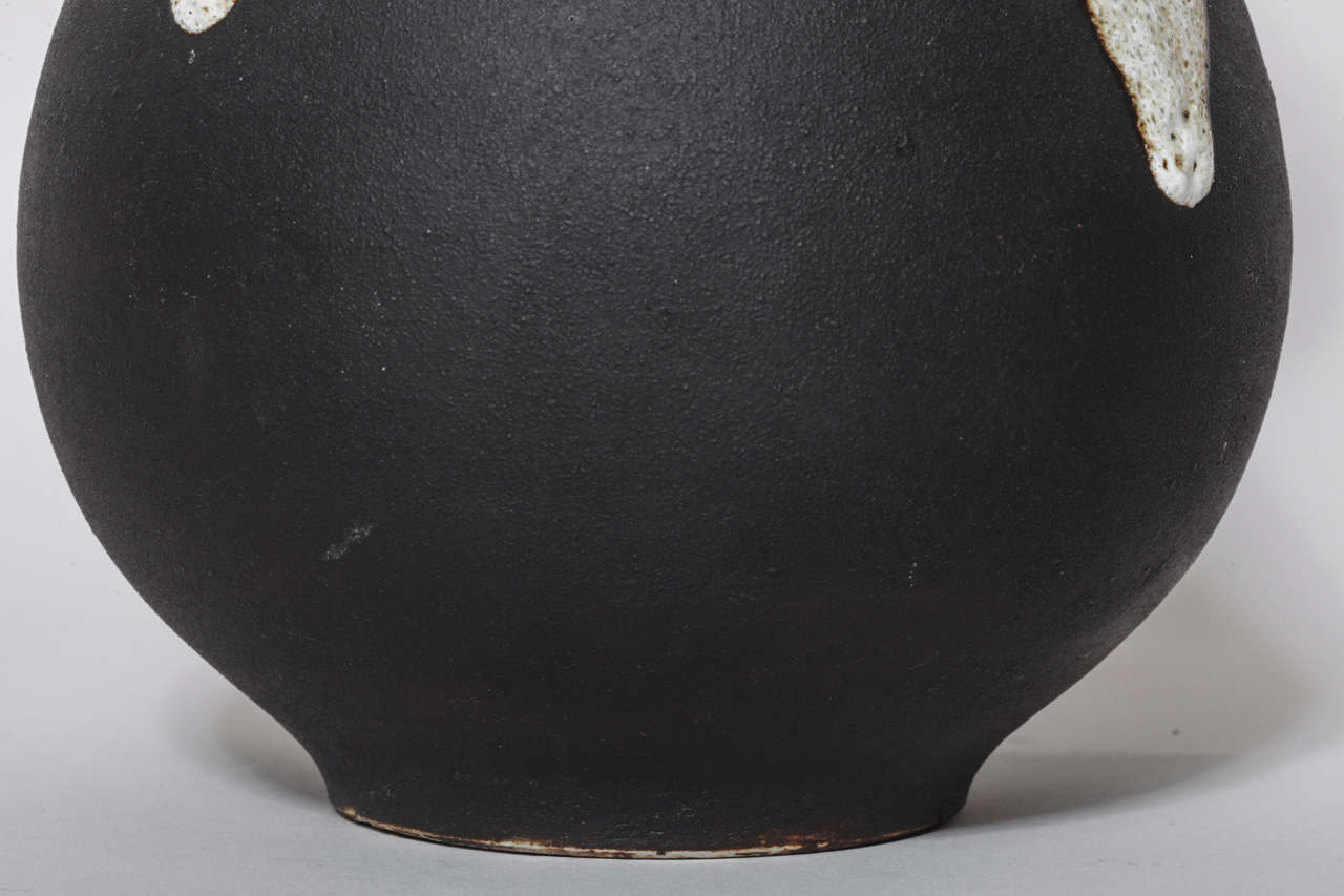 Fernand Rumebe French Art Deco Stoneware Vase For Sale 2