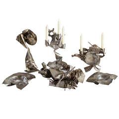 Albert Feraud Unique Grouping of Six Metal Sculptures