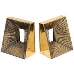 1960's Brass Bookends