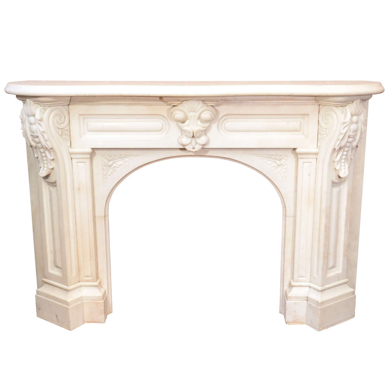 white arched victorian mantel with corbels at 1stdibs